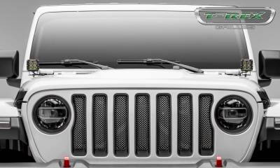 T-REX Grilles - Jeep Gladiator, JL Sport Series Grille, Polished, 1 Pc, Insert, without Forward Facing Camera - PN #44493 - Image 3