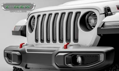 T-REX Grilles - Jeep Gladiator, JL Sport Series Grille, Polished, 1 Pc, Insert, without Forward Facing Camera - PN #44493 - Image 2