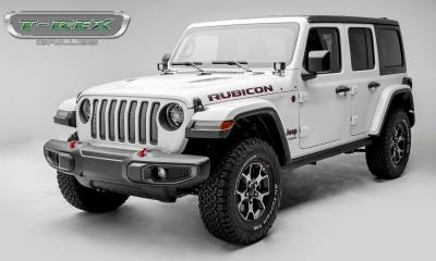 T-REX Grilles - Jeep Gladiator, JL Sport Series Grille, Polished, 1 Pc, Insert, without Forward Facing Camera - PN #44493 - Image 5