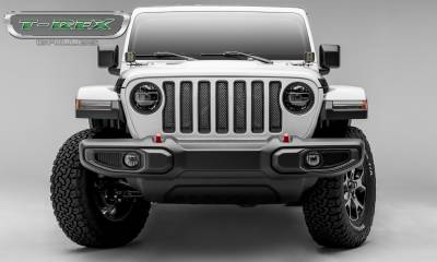 T-REX Grilles - Jeep Gladiator, JL Sport Series Grille, Polished, 1 Pc, Insert, without Forward Facing Camera - PN #44493 - Image 4