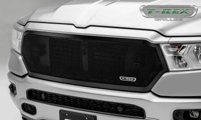 Upper Class Series Grilles - T-REX Grilles - RAM 1500 - Upper Class Series - Main Grille Replacement w/ Formed Mesh - Black Powder Coat Finish - Pt # 51465