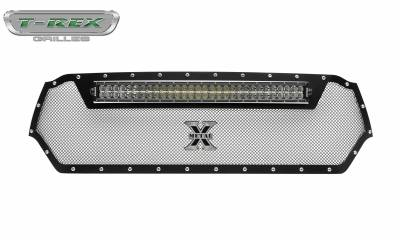T-REX Grilles - 2019-2020 Ram 1500 Laramie, Lone Star, Big Horn, Tradesman Torch Grille, Black, 1 Pc, Replacement, Chrome Studs, Incl. 30 Inch LED - PN #6314651 - Image 7