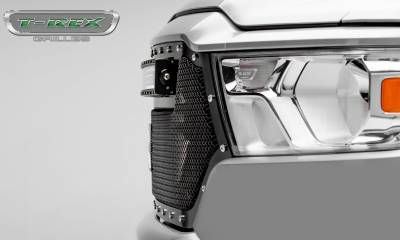 T-REX Grilles - 2019-2020 Ram 1500 Laramie, Lone Star, Big Horn, Tradesman Torch Grille, Black, 1 Pc, Replacement, Chrome Studs, Incl. 30 Inch LED - PN #6314651 - Image 6