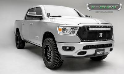 "T-REX Grilles - 2019 Ram 1500 Laramie, Lone Star, Big Horn, Tradesman Torch Grille, Black, 1 Pc, Replacement, Chrome Studs, Incl. (1) 30"" LED - PN #6314651 - Image 5"