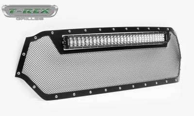 "T-REX Grilles - 2019 Ram 1500 Laramie, Lone Star, Big Horn, Tradesman Torch Grille, Black, 1 Pc, Replacement, Chrome Studs, Incl. (1) 30"" LED - PN #6314651 - Image 8"