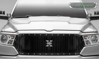 T-REX Grilles - 2019-2020 Ram 1500 Laramie, Lone Star, Big Horn, Tradesman Laser X Grille, Black, 1 Pc, Replacement, Chrome Studs - PN #7714651 - Image 2
