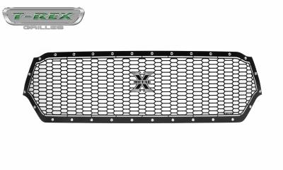 T-REX Grilles - 2019-2020 Ram 1500 Laramie, Lone Star, Big Horn, Tradesman Laser X Grille, Black, 1 Pc, Replacement, Chrome Studs - PN #7714651 - Image 7