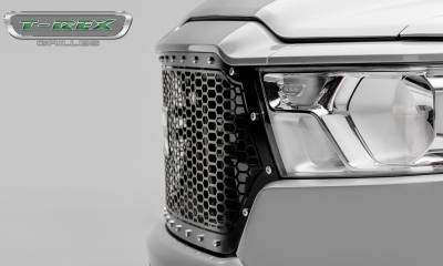 T-REX Grilles - 2019-2020 Ram 1500 Laramie, Lone Star, Big Horn, Tradesman Laser X Grille, Black, 1 Pc, Replacement, Chrome Studs - PN #7714651 - Image 6