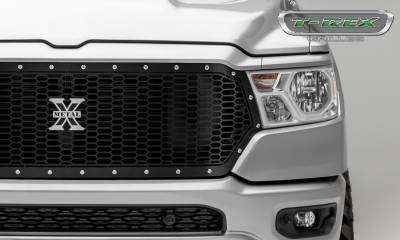 T-REX Grilles - 2019-2020 Ram 1500 Laramie, Lone Star, Big Horn, Tradesman Laser X Grille, Black, 1 Pc, Replacement, Chrome Studs - PN #7714651 - Image 3