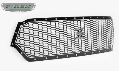 T-REX Grilles - 2019-2020 Ram 1500 Laramie, Lone Star, Big Horn, Tradesman Laser X Grille, Black, 1 Pc, Replacement, Chrome Studs - PN #7714651 - Image 8
