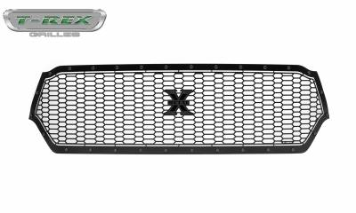 T-REX Grilles - 2019-2021 Ram 1500 Laramie, Lone Star, Big Horn, Tradesman Stealth Laser X Grille, Black, 1 Pc, Replacement, Black Studs, Does Not Fit Vehicles with Camera - PN #7714651-BR - Image 7