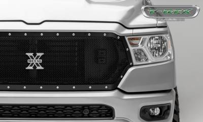 T-REX Grilles - 2019 Ram 1500 Laramie, Lone Star, Big Horn, Tradesman X-Metal Grille, Black, 1 Pc, Replacement, Chrome Studs - PN #6714651 - Image 3