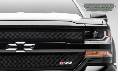 T-REX Grilles - Chevrolet Silverado 1500 Upper Class Series, Powder Coated Black, 2 Pc Main Grille Insert - Fits Z71 Only - Pt # 51124 - Image 2