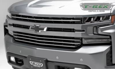 T-REX Grilles - 2019 Silverado 1500Trailboss, RST, LT Round Billet Grille, Horizontal Round, Brushed, 4 Pc, Overlay - PN #6211233 - Image 1