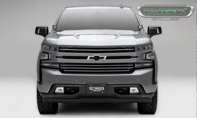 T-REX Grilles - 2019 Silverado 1500Trailboss, RST, LT Round Billet Grille, Horizontal Round, Brushed, 4 Pc, Overlay - PN #6211233 - Image 4