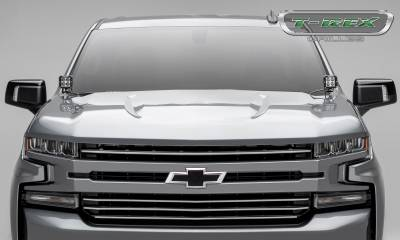 T-REX Grilles - 2019 Silverado 1500Trailboss, RST, LT Round Billet Grille, Horizontal Round, Brushed, 4 Pc, Overlay - PN #6211233 - Image 5