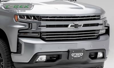 T-REX Grilles - 2019 Silverado 1500Trailboss, RST, LT Round Billet Grille, Horizontal Round, Brushed, 4 Pc, Overlay - PN #6211233 - Image 6