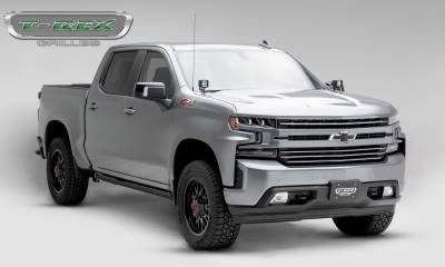 T-REX Grilles - 2019 Silverado 1500Trailboss, RST, LT Round Billet Grille, Horizontal Round, Brushed, 4 Pc, Overlay - PN #6211233 - Image 7