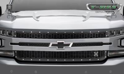T-REX Grilles - 2019-2020 Silverado 1500 Laser X Grille, Black, 1 Pc, Replacement, Chrome Studs - PN #7711261 - Image 2