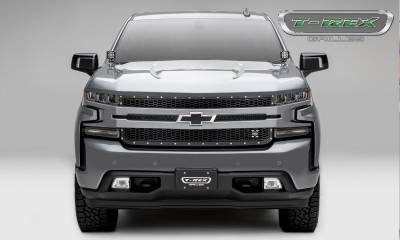 T-REX Grilles - 2019-2020 Silverado 1500 Laser X Grille, Black, 1 Pc, Replacement, Chrome Studs - PN #7711261 - Image 3