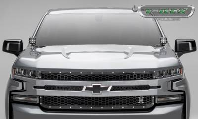 T-REX Grilles - 2019-2020 Silverado 1500 Laser X Grille, Black, 1 Pc, Replacement, Chrome Studs - PN #7711261 - Image 4