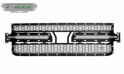T-REX Grilles - 2019 Silverado 1500 Laser X Grille, Black, 1 Pc, Replacement, Chrome Studs - PN #7711261 - Image 5