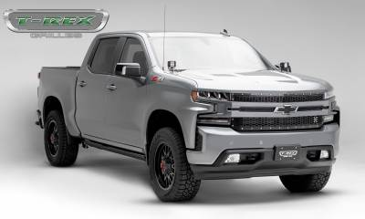 T-REX Grilles - 2019-2020 Silverado 1500 Laser X Grille, Black, 1 Pc, Replacement, Chrome Studs - PN #7711261 - Image 7