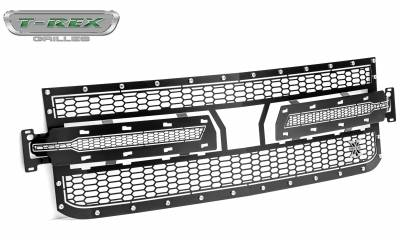 T-REX Grilles - 2019-2020 Silverado 1500 Laser X Grille, Black, 1 Pc, Replacement, Chrome Studs - PN #7711261 - Image 8