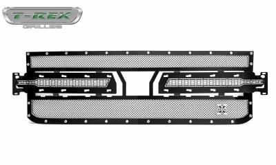 T-REX Grilles - 2019 Silverado 1500 X-Metal Grille, Black, 1 Pc, Replacement, Chrome Studs - PN #6711261 - Image 3