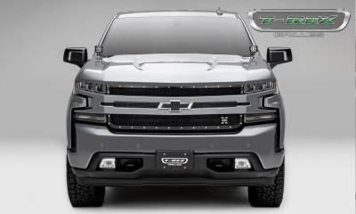 T-REX Grilles - 2019 Silverado 1500 X-Metal Grille, Black, 1 Pc, Replacement, Chrome Studs - PN #6711261 - Image 4