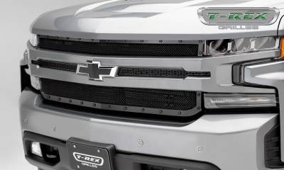 X-Metal Series Grilles - T-REX Grilles - Chevrolet Silverado 1500 2019 Stealth X-Metal Grille, Black, Mild Steel, 1 Pc, Replacement - Pt #6711261-BR