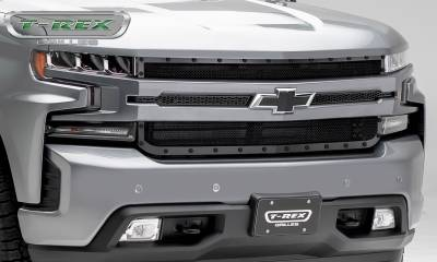 T-REX Grilles - 2019 Silverado 1500 Stealth X-Metal Grille, Black, 1 Pc, Replacement, Black Studs - PN #6711261-BR - Image 5