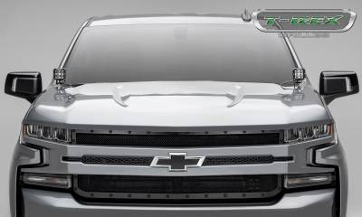 T-REX Grilles - 2019 Silverado 1500 Stealth X-Metal Grille, Black, 1 Pc, Replacement, Black Studs - PN #6711261-BR - Image 6