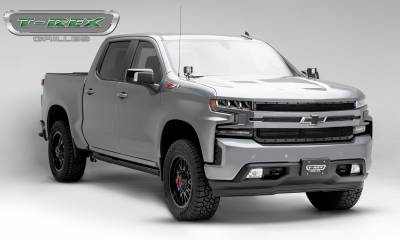 T-REX Grilles - 2019 Silverado 1500 Stealth X-Metal Grille, Black, 1 Pc, Replacement, Black Studs - PN #6711261-BR - Image 7
