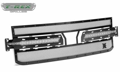 T-REX Grilles - 2019 Silverado 1500 Stealth X-Metal Grille, Black, 1 Pc, Replacement, Black Studs - PN #6711261-BR - Image 8