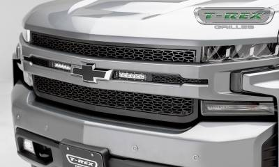 "ZROADZ - 2019 Silverado 1500 ZROADZ Grille, Black, 1 Pc, Replacement, Incl. (2) 6"" LEDs - PN #Z311261 - Image 1"