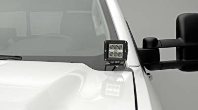 ZROADZ - 2015-2019 Silverado, Sierra HD Hood Hinge LED Kit  Incl. (4) 3 Inch LED Pod Lights - PN #Z361221-KIT4 - Image 3