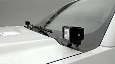ZROADZ - 2015-2019 Silverado, Sierra 2500, 3500 Hood Hinge LED Bracket to mount (2) 3 Inch LED Pod Lights - PN #Z361221 - Image 8