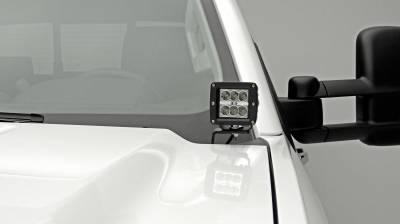 ZROADZ - 2015-2019 Silverado, Sierra 2500, 3500 Hood Hinge LED Bracket to mount (2) 3 Inch LED Pod Lights - PN #Z361221 - Image 9