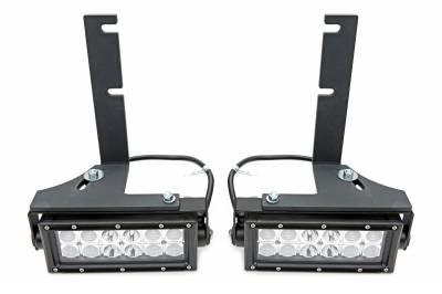 ZROADZ - 2015-2019 Silverado, Sierra HD Rear Bumper LED Kit  Incl. (2) 6 Inch LED Straight Double Row Light Bars - PN #Z381221-KIT - Image 4