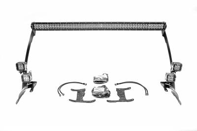ZROADZ - 2018-2019 Jeep JL Front Roof LED Bracket to mount (1) 50 or 52 Inch Staight LED Light Bar and (4) 3 Inch LED Pod Lights - PN #Z374831-BK4 - Image 4