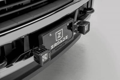 ZROADZ - Universal License Plate Frame LED Bracket, Incl. (2) 3 Inch LED Pod Lights - PN #Z310005 - Image 3
