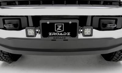 ZROADZ - Universal License Plate Frame LED Bracket, Incl. (2) 3 Inch LED Pod Lights - PN #Z310005 - Image 4