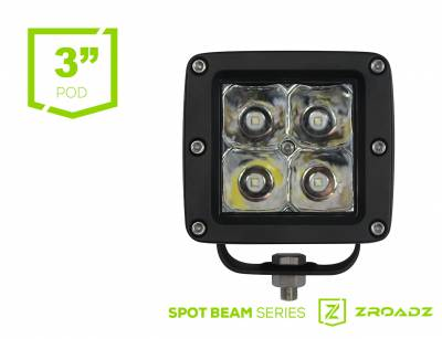 ZROADZ - (2) 3 Inch ZROADZ LED Flood Beam Pod Lights - Z30BC14W20