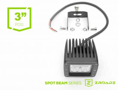 ZROADZ - (1) 3 Inch LED Flood Beam Pod Lights - PN #Z30BC14W20 - Image 4
