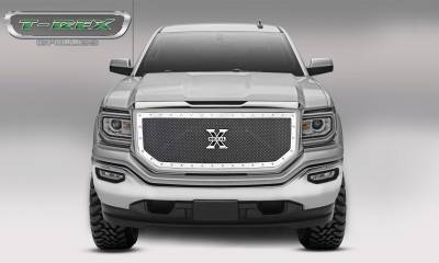 T-REX Grilles - 2016-2018 Sierra 1500 X-Metal Grille, Polished, 1 Pc, Insert, Chrome Studs - PN #6712130 - Image 3