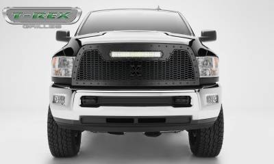 Torch Series Grilles - T-REX Grilles - 2013-2018 Ram HD Stealth Laser Torch Grille, Black, Mild Steel, 1 Pc, Replacement -#7314521-BR