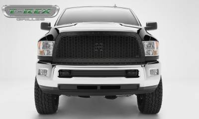 X-Metal Series Grilles - T-REX Grilles - 2013-2018 Ram HD Stealth Laser X Grille, Black, Mild Steel, 1 Pc, Replacement -#7714521-BR