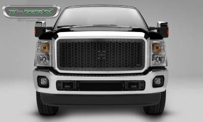 X-Metal Series Grilles - T-REX Grilles - 2011-2016 Ford Super Duty Stealth Laser X Grille, Black, Mild Steel, 1 Pc, Insert -#7715461-BR