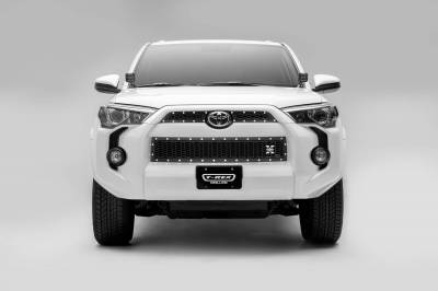 T-REX Grilles - 2014-2019 Toyota 4Runner Laser X Grille, Black, 3 Pc, Overlay, Chrome Studs - PN #7719491